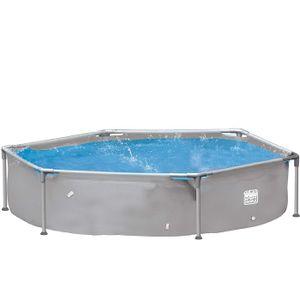 Wehnke Happy People 77518 Stahrahmen Frame Pool Planschbecken 240x51 cm grau