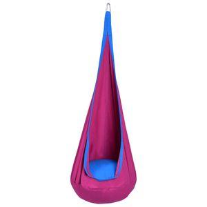 Haengesitz Haengehoehle Haengesessel Kinderhaengesitz Kinder Fly Schaukel mit Sitzkissen Lila (Belastbarkeit: bis 80 kg)