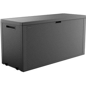Keter Emily Aufbewahrungsbox 280 L Graphit Box Gartenbox Kunststoff