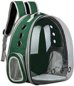 Tragbare Haustierrucksack Raumkapsel Faltbar  Reiserucksack Katze Hund Rucksack Transparent Kapsel  Transportrucksack Transporttasche  Atmungsaktiv Außerhalb Reise( grün)