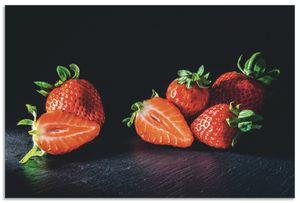 ARTland Alubilder Erdbeeren, süß und fruchtig Alubild Größe: 30x20 cm