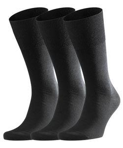 FALKE Airport 3-Pack Herren Socken black (3000), Größe:43-44