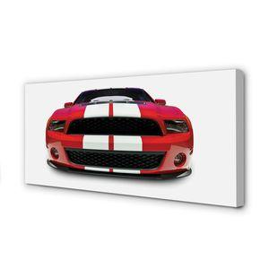 Leinwandbild 100x50 Wandkunst Red Sportwagen