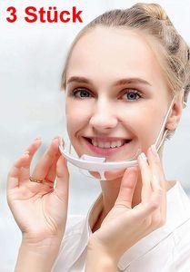 GKA 3 Stück Safety Gesichtsschutzschild bedeckt nur Mund und Nase Augen sind frei Visier Gesichtsschutz Anti-Fog Schutzvisier