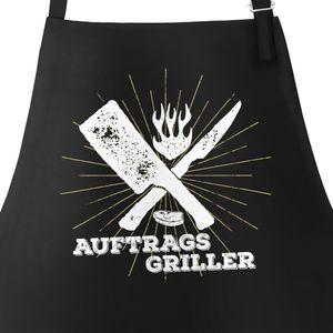 Herren Grillschürze Auftragsgriller Küchenschürze Schürze Barbecue Moonworks®  schwarz unisize