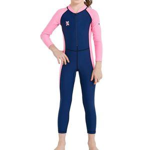 Kinder Badeanzug Jungen Uv-Schutz Badeset Maritim Schwimmbekleidung - XXL Dunkelblau + Pink