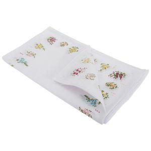 Damen Taschentücher mit Blumenmuster, 8 Stück HAND103 (Einheitsgröße) (Gitter-Design)
