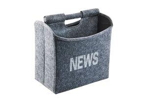 Zeitungsständer faltbar aus grauem Filz 31x19x31cm