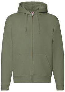Fruit of the Loom Premium Hooded Sweat Jacket, Farbe:oliv, Größe:L