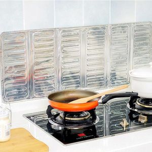 Herd Spritzschutz Küchenrückwand Schutz Aluminium faltbar Schutzfolie