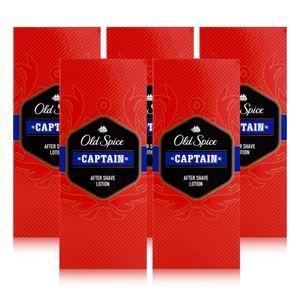 Old Spice After Shave Lotion Captain 100ml - Beruhigt und erfrischt (5er Pack)