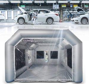 Tunnelzelt 6 Personen Zelt Aufblasbare Campingzelt Wasserdichte Großes Autozelt Luftzelt  Familienzelt Aufblasbare Lackierkabine Zelt Partyzelt 8*4*3m