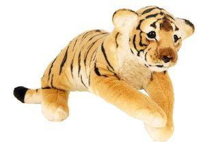 Brauner Tiger XL Plüschtier ca. 60 cm liegend Kuscheltier Softtier