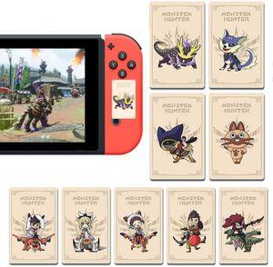 9 Stück NFC Tag-Spielkarten für Monster Hunter Rise Neue Horizonte Mini NFC Amiibo Karte kompatibel mit Nintendo Switch / Switch Lite/ Wii U