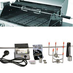 Drehspieß Grillspieß für Gasgrill Grill mit Motor 220V 10x10mm