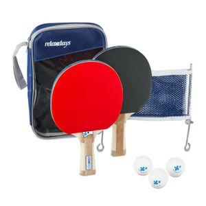 relaxdays Tischtennis Set mit Netz