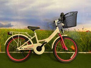 20 ZOLL Kinder Mädchen City Fahrrad Kinderfahrrad Cityfahrrad Citybike Mädchenfahrrad Kinderrad Mädchenrad Bike Rad Rücktritt Rücktrittbremse Beleuchtung STVO HERMOSA Weiss Weiß