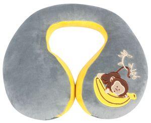 KidsExperts Nackenrolle Monkey ab 5 Jahre grau/gelb, 26080