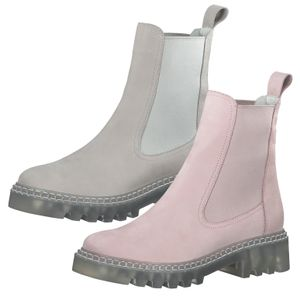 Tamaris Damen Stiefeletten Chelsea Boots Leder 1-25455-26, Größe:38 EU, Farbe:Rosa