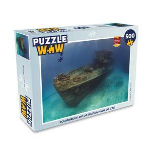 Puzzle 500 Teile - Schiffswrack auf dem Grund des Meeres