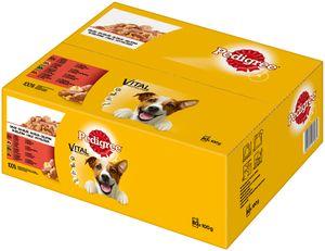 Pedigree Adult   Hundefutter Nassfutter Portionsbeutel Multipack Gelee 80x100g