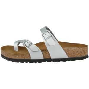BIRKENSTOCK Mayari Damen Zehentrenner Silber Schuhe, Größe:36