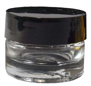 50 x Designer Glas Tiegel  Diana Deckel Schwarz 4ml Geldosen Leer