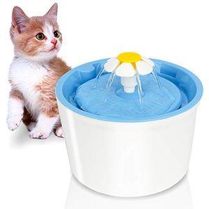 karpal Katzen Trinkbrunnen, Wasserspender fuer Haustiere mit Aktivkohlefilter, Leise Wasserbrunnen mit 3 Modi, Automatisch Hygienefilter Trinkbrunnen fuer Hunde (1.6L, 3.5W)¡