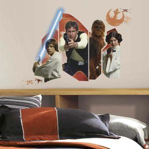 Wandsticker Star Wars Eine neue Hoffnung Helden