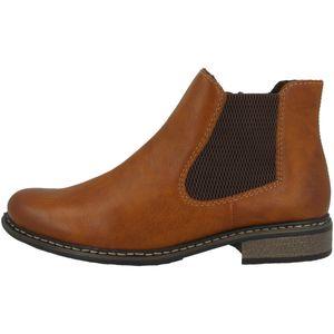 Rieker Damen Z4994 Stiefeletten Chelsea Boots , Größe:40 EU, Farbe:Braun