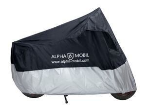 ALPHA-MOBIL Roller-Abdeckplane, schwarz-silber