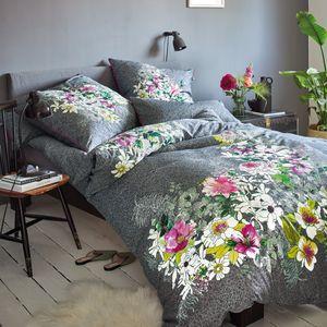 Irisette Mako Satin Bettwäsche 2 teilig Bettbezug 135 x 200 cm Kopfkissenbezug 80 x 80 cm Carat-K-S 8820-11 grafit
