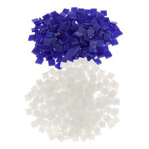 500pcs Sortierte Multicolor Square Glasmosaik Fliesen Stücke Für