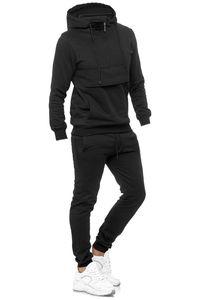 Kinder Trainingsanzug Zweiteiler für Jungen Sport Jogginganzug Hoodie mit Jogginghose, Farben:Schwarz, Größe Kinder:104
