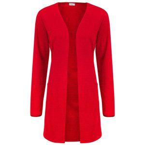 JACQUELINE de YONG by ONLY Damen Sweat Cardigan JDYNEWPOINT, Farbe:rot, Größe:M