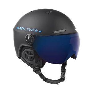BLACK CREVICE Ski-& Snowboardhelm - Modell GSTAAD | Visierhelm | Farbe: Black/Blue