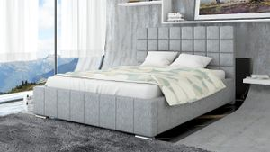 Polsterbett Bett Doppelbett MATTEO 200x200cm inkl.Bettkasten