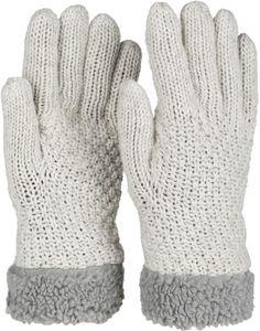 styleBREAKER Damen warme Winter Handschuhe mit Perlmuster und Fleece, Thermo Strickhandschuhe, Fingerhandschuhe 09010032, Farbe:Dunkelblau