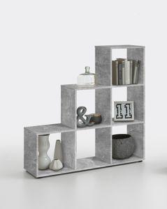 FMD Möbel MEGA 1 Raumteiler - Beton Light Atelier - Maße: 104,5 cm x 108 cm x 33 cm; 248-001