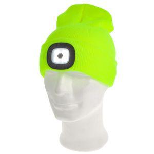 Strickmütze Wintermütze Beanie Mütze mit LED Licht Stirnlampe aufladbar & dimmbar für Damen Herren