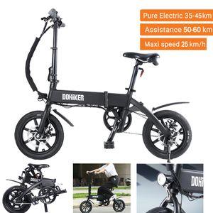 2020 DOHIKER 14'' Faltbar Fahrrad Elektrofahrrad E-Bike Moped Klapprad 250W 25km/h 36V 10Ah LED NEU