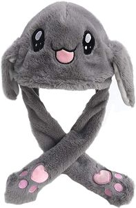 Moving Kaninchen Hut Plüsch Tier Ohr Hut Beweglichen Ohren mit Airbag-Kappe für Spielzeug Geburtstagsgeschenk Plüschtier Geschenk