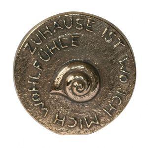 Bronzeplakette poliert zum Stellen & Hängen 8 cm