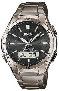 Casio  Funk  WVA-M640TD-1AER  WVA-M640TD-1AER  Grau  Schwarz  Herren  Funkuhr