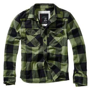 Brandit Check Shirt, Größe:6XL, Farbe:Oliv-Schwarz