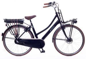Amigo E-Pulse - Elektrofahrrad für damen - E-bike 28 Zoll - Citybike mit Shimano 3-Gang - Nabenschaltung - 250W, 36V Li-ion-Akku - Schwarz