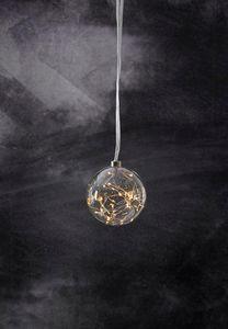 STAR Trading Glaskugel Glow mit Dew Drops 40 BS ww/silber