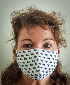 Mundmaske mit Motiv, Stoffmaske für Mund und Nase | Behelfsmaske, Stoffmaske:Karo