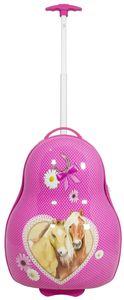 Trolley für Kinder mit stabiler Hartschale - Motiv Pferde - Größe M