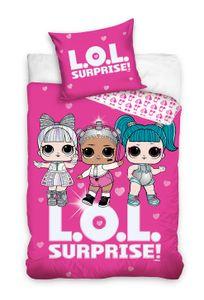 L.O.L. Surprise Bettwäsche 80x80 + 135x200 cm · LOL Mädchen / Kinder Bettwäsche · 100% Baumwolle
